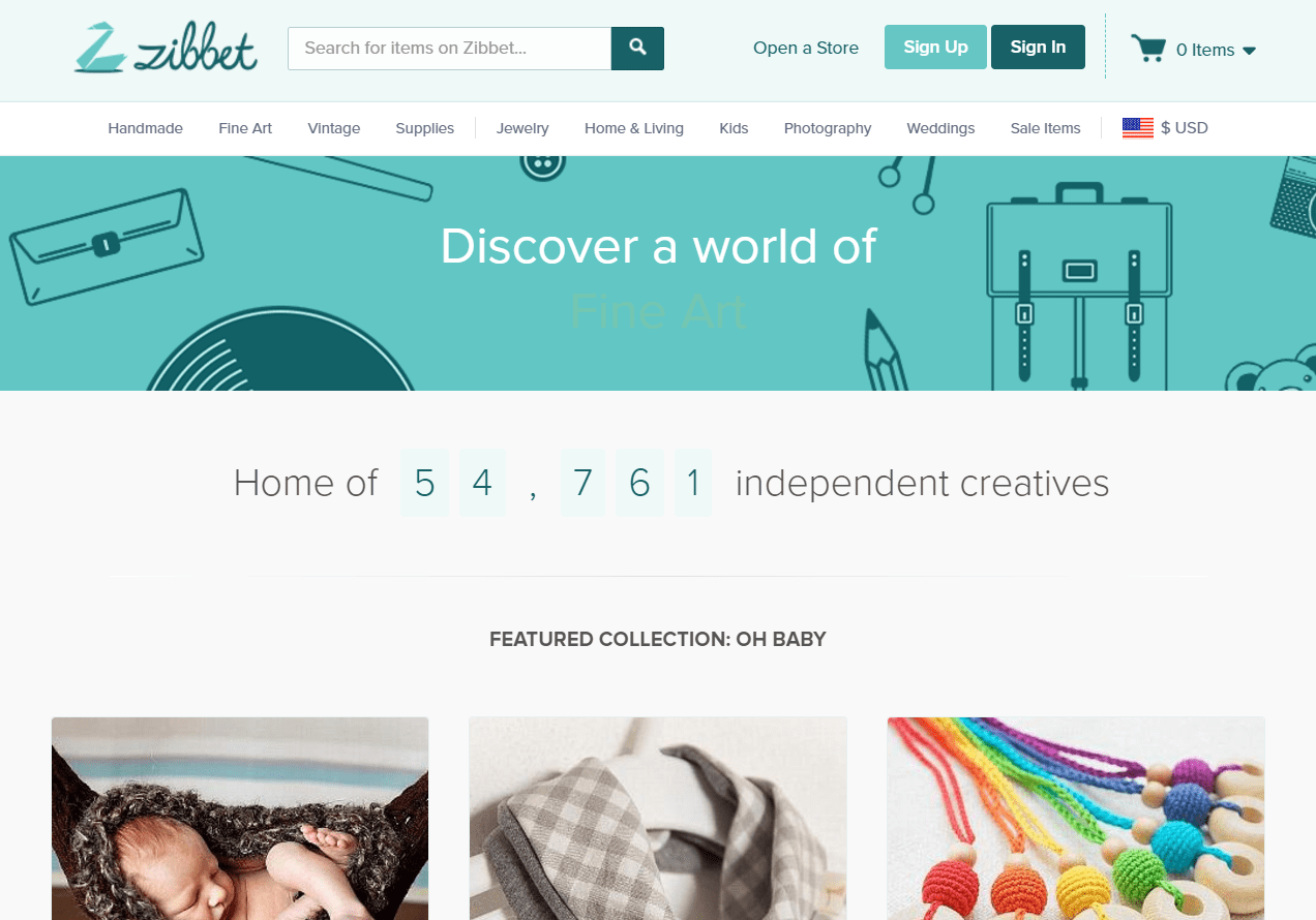 Zibbet marketplace