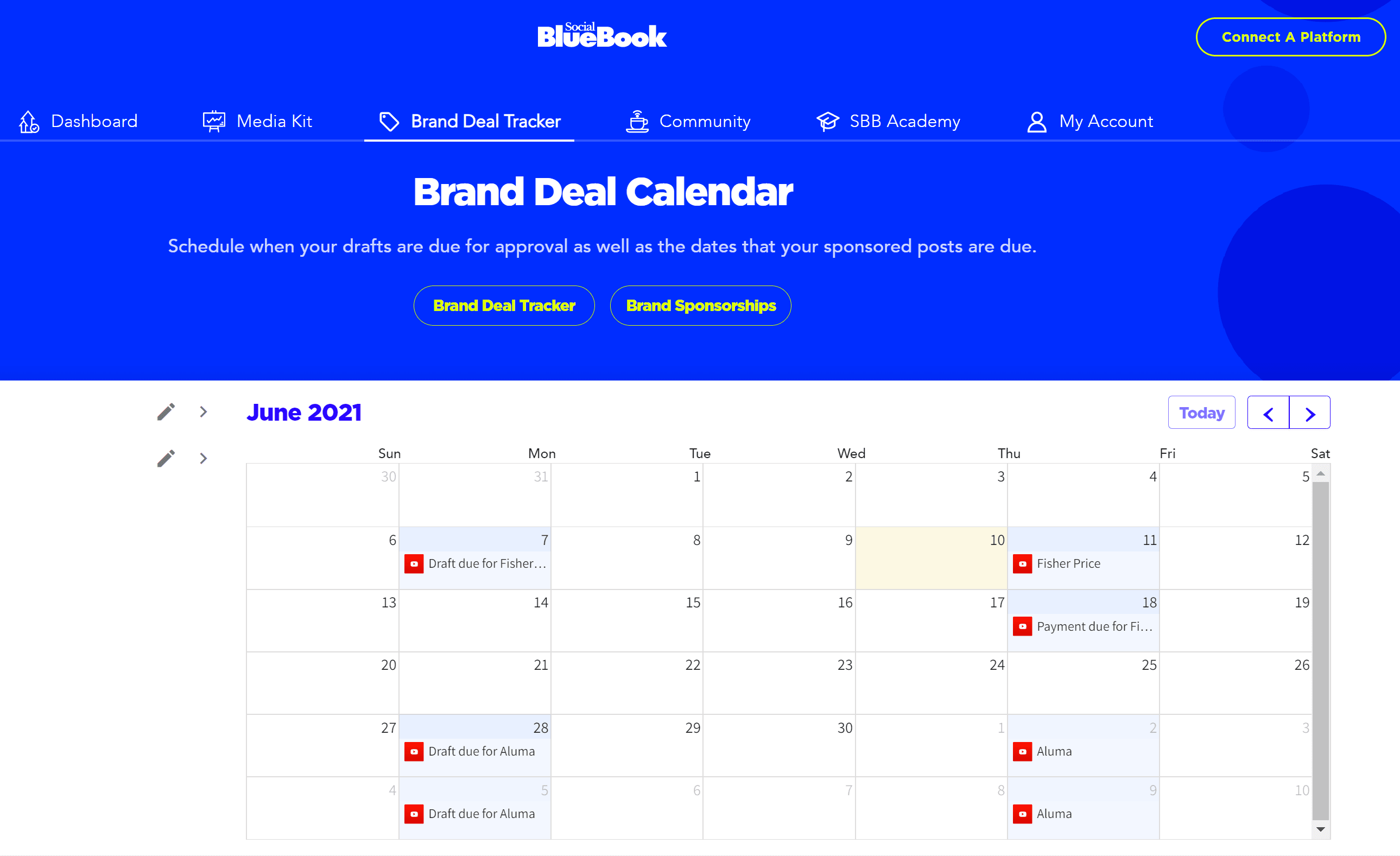The Brand Deal Tracker Has A NEW Calendar Function!!!